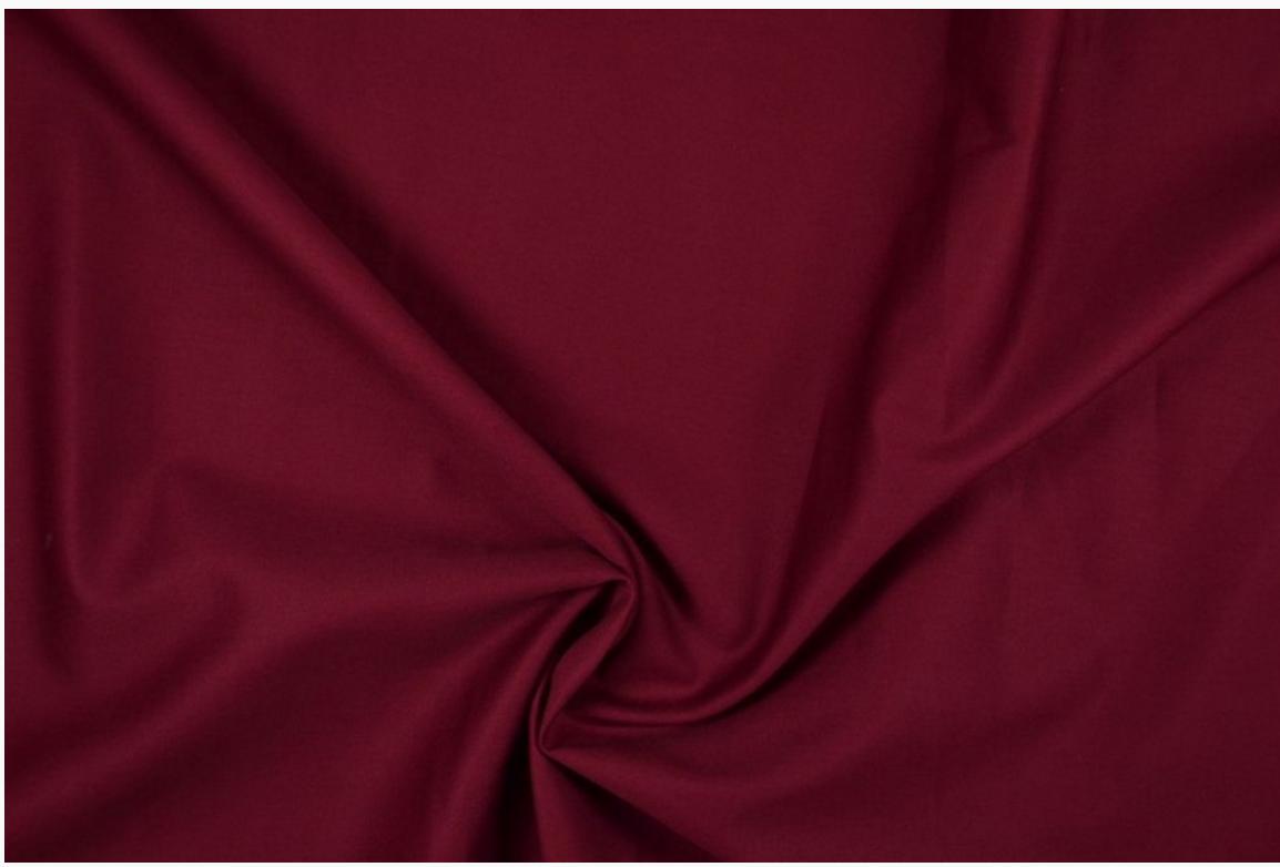 Bekleidungsstoff Baumwoll Köper dunkelrot 1,4m Breite