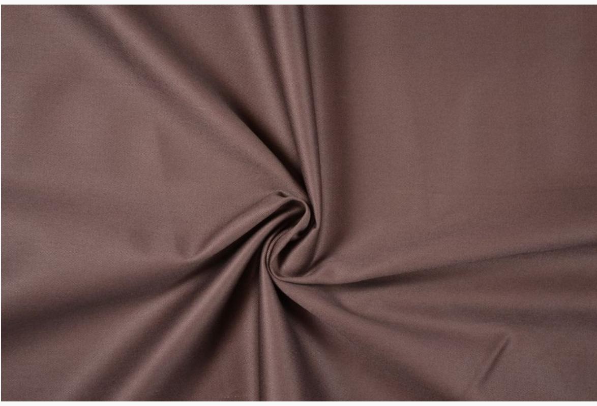 Bekleidungsstoff Baumwoll Köper dunkelbraun 1,4m Breite