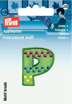 Prym Applikation Buchstabe P ca. 2,5x3cm
