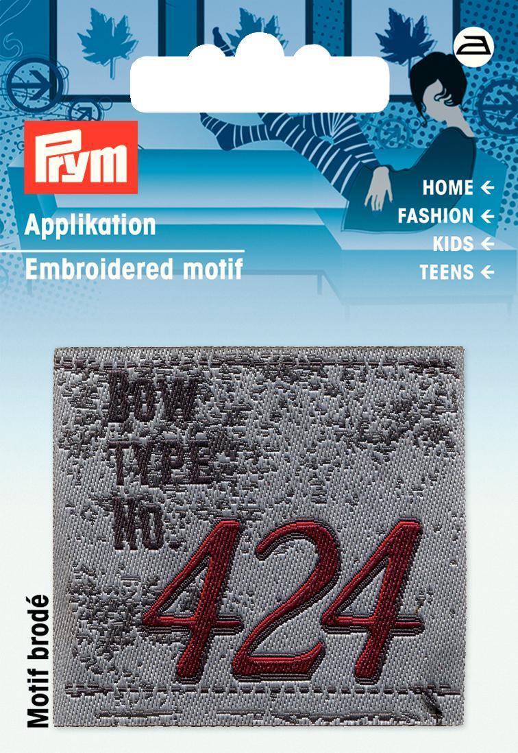 Prym Applikation Patch grau 424 5x4,5cm