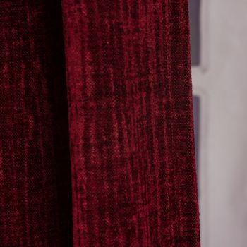 Thermo Chenille Fertigvorhang Kälteschutz Schallschutz Verdunkelung rot 145x245cm – Bild 4