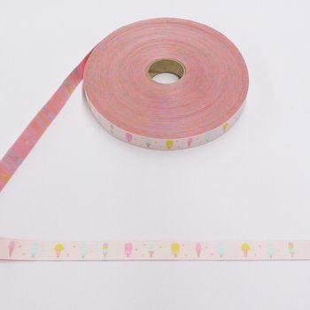 Webband Eis rosa pastell Töne Breite: 2cm