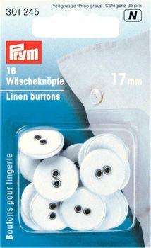 Prym Kinder Knopf Knöpfe Wäscheknöpfe Leinen 17mm 16 Stück