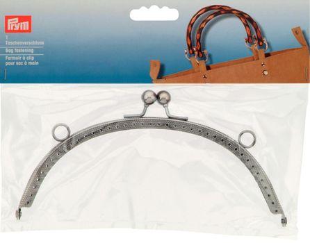 Taschenverschluss Bella silberfarbig Metall 19x10cm
