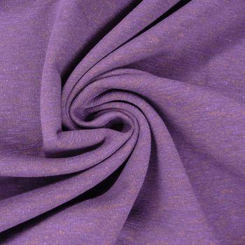 Kreativstoff Sweatstoff TwoSide lila braun meliert 1,60m Breite – Bild 2