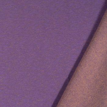 Kreativstoff Sweatstoff TwoSide lila braun meliert 1,60m Breite