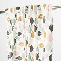 Schöner Leben Vorhang Vorhangschal mit Smok-Schlaufenband Blätter 245cm oder Wunschlänge