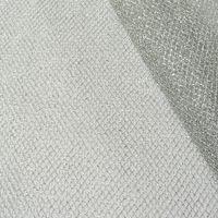 Tüll Gitterstoff silberfarbig Glitzer 1,4m Breite 001