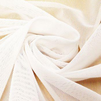 Stretchtüll Elastik-Tüll Tüllstoff Tüll elastisch weich weiß 1,5m Breite