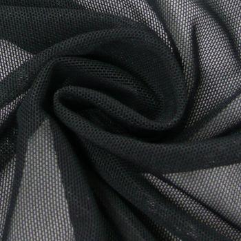 Stretchtüll Elastik-Tüll Tüllstoff Tüll elastisch weich schwarz 1,5m Breite