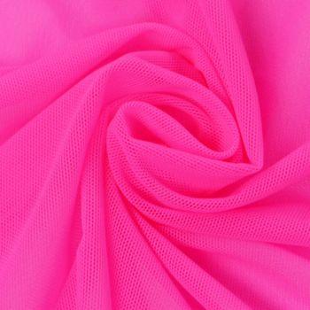 Stretchtüll Elastik-Tüll Tüllstoff Tüll elastisch weich pink 1,5m Breite