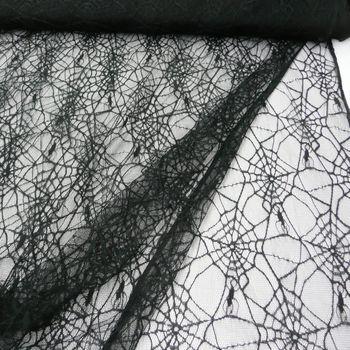 Tüll Spinnenwebe schwarz 1,5m Breite