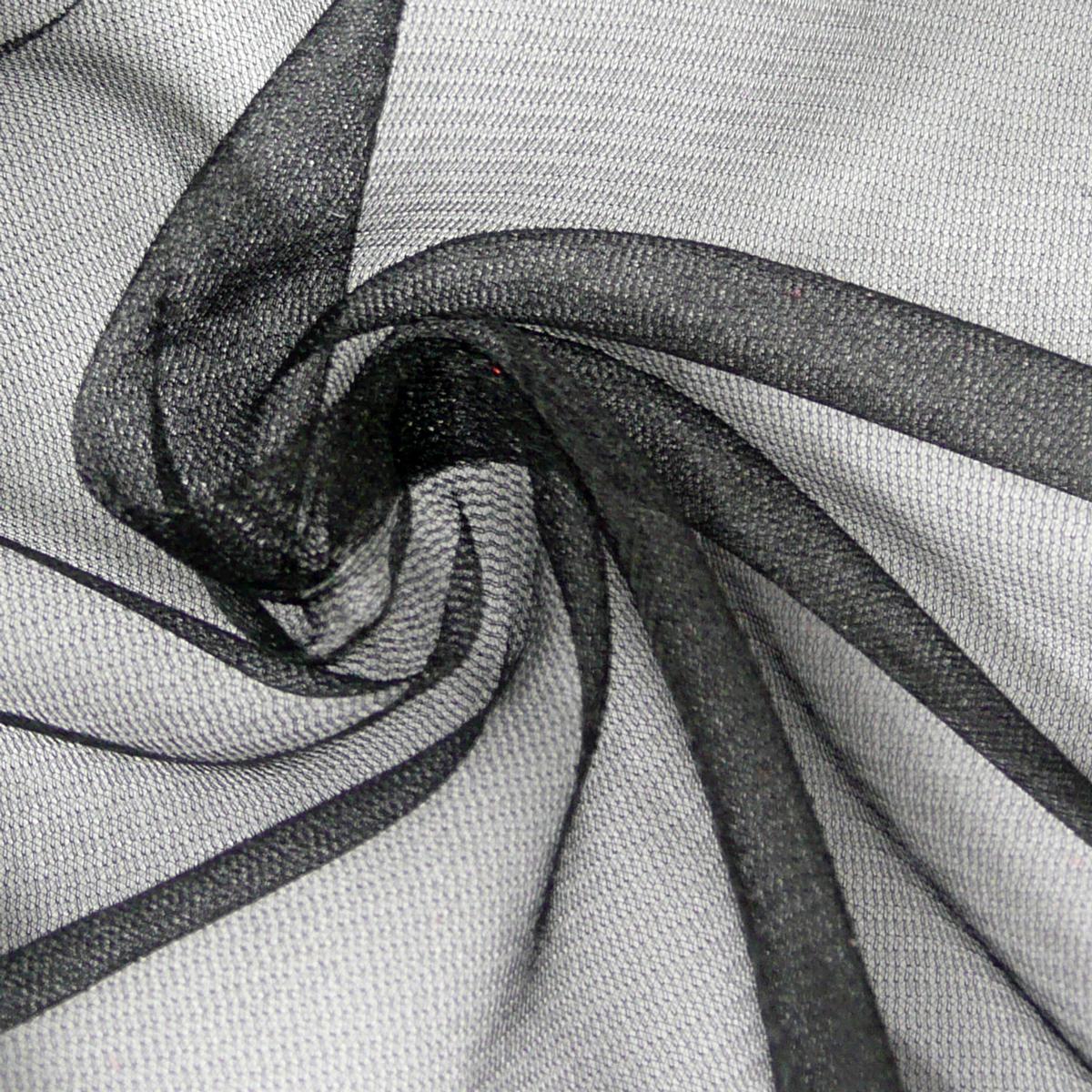 t ll weich schimmer schwarz 1 5m breite alle stoffe stoffe uni polyester. Black Bedroom Furniture Sets. Home Design Ideas