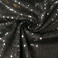 Pailletten Stoff schwarz 1,5m Breite
