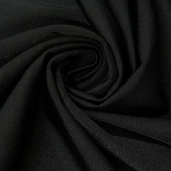 Faschingsstoff elastisch uni schwarz 1,5m Breite