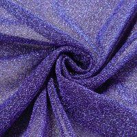Lurexstoff Glitzerstoff Faschingsstoff elastisch Glitzer blau 1,5m Breite 001