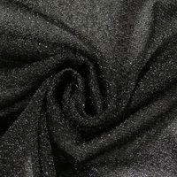 Lurexstoff Glitzerstoff Faschingsstoff elastisch Glitzer schwarz 1,5m Breite