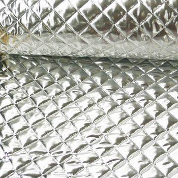 Bekleidungsstoff Steppstoff Lame silberfarbig 1,5m Breite – Bild 1