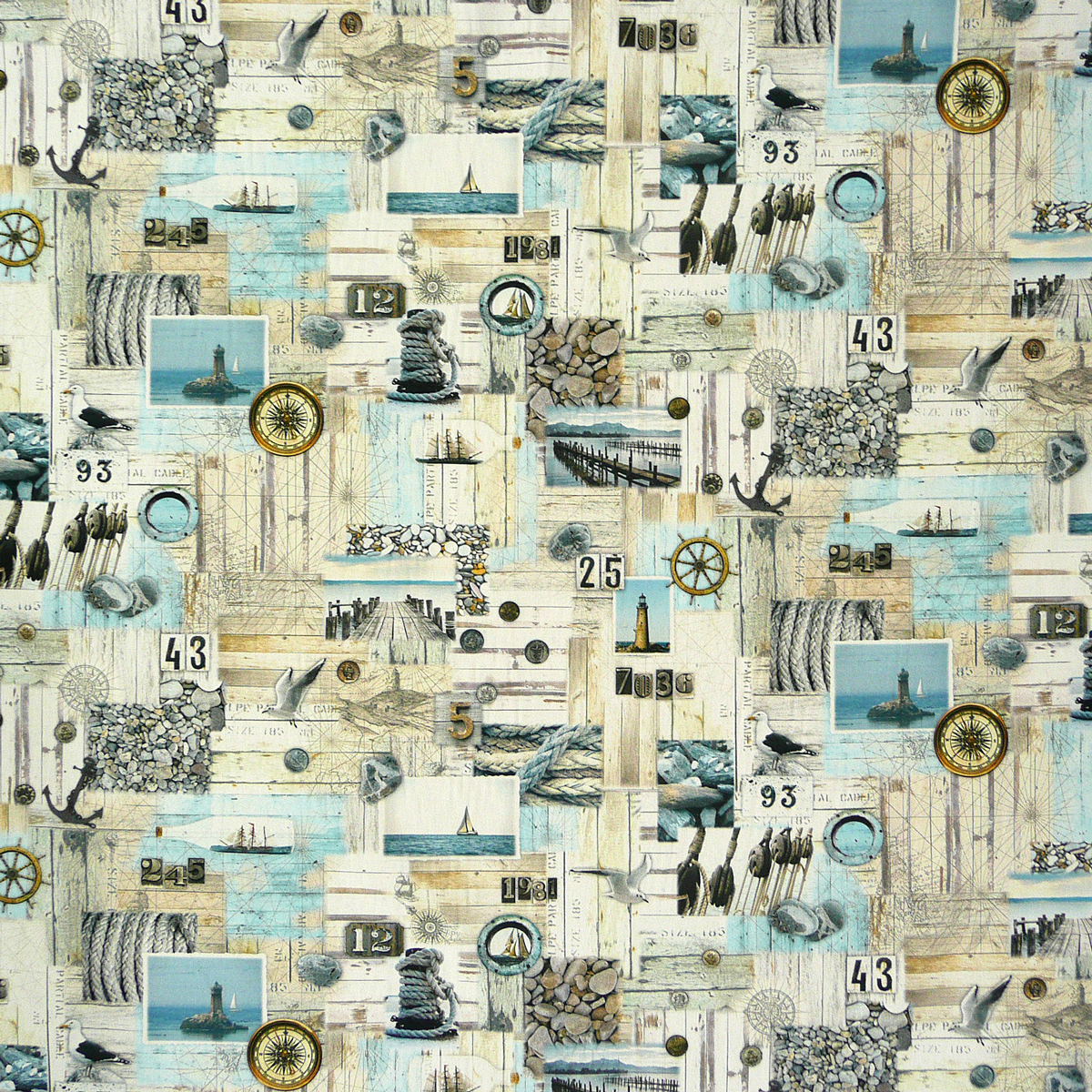 baumwollstoff stoff dekostoff digitaldruck nordisch maritim grau blau stoffe stoffe gemustert. Black Bedroom Furniture Sets. Home Design Ideas