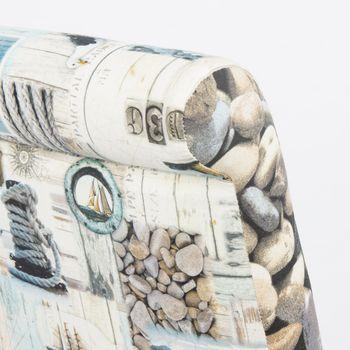 Baumwollstoff Stoff Dekostoff Digitaldruck Nordisch Maritim grau blau – Bild 7