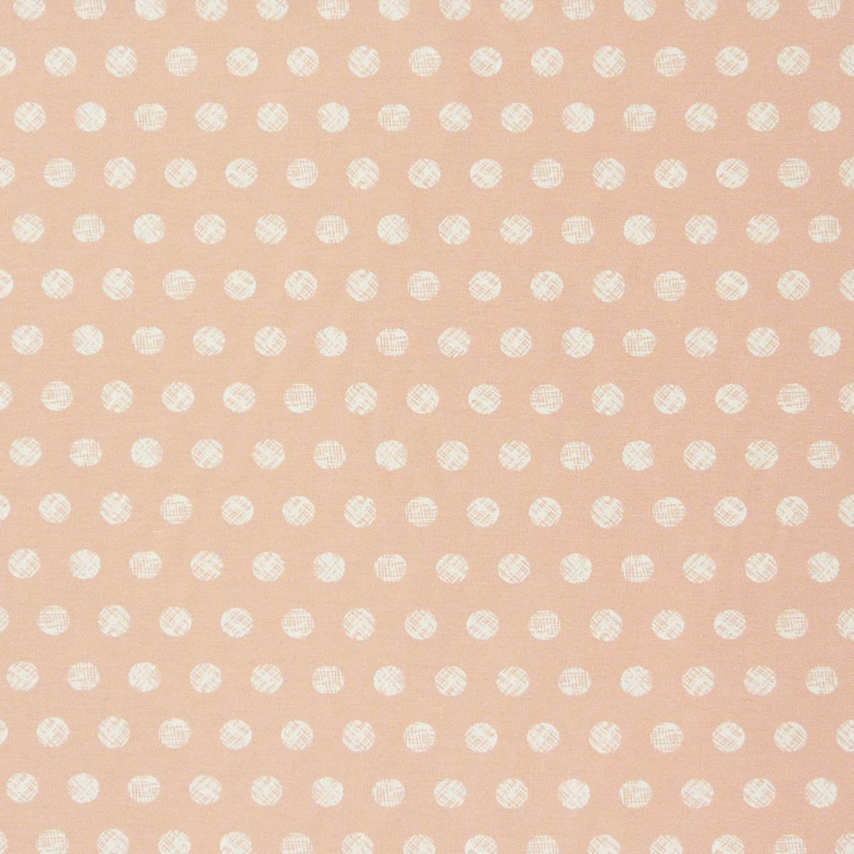 dekostoff gemalte kreise pastell rosa wei gardinenstoffe dekostoffe. Black Bedroom Furniture Sets. Home Design Ideas