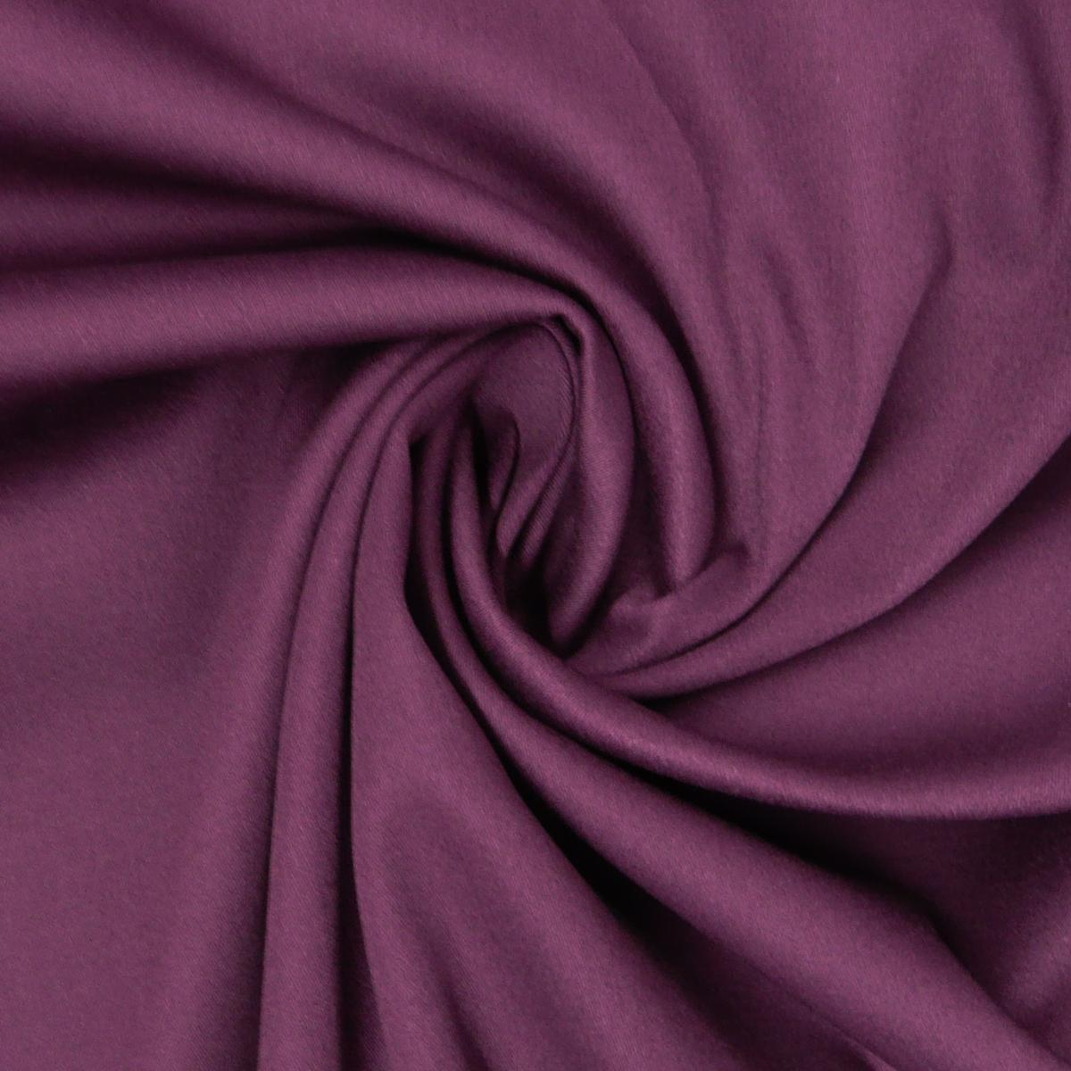 Baumwolle Stoff Meterware Satin Spandex lila 1,45m Breite