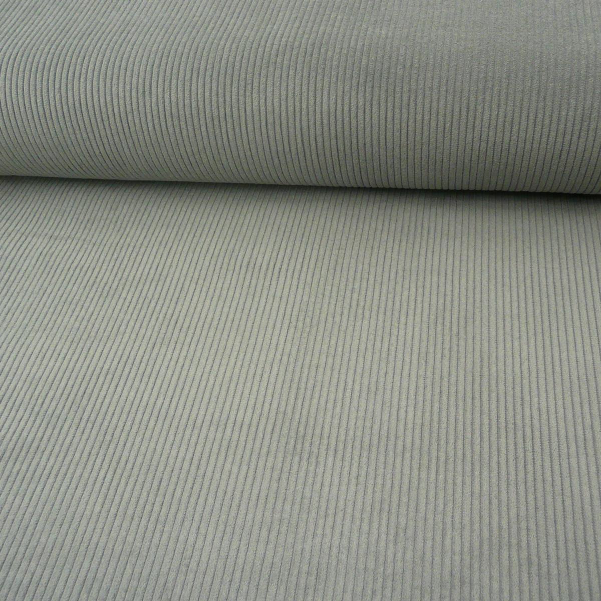 Bekleidungsstoff Cord 4,5W grob einfarbig grau