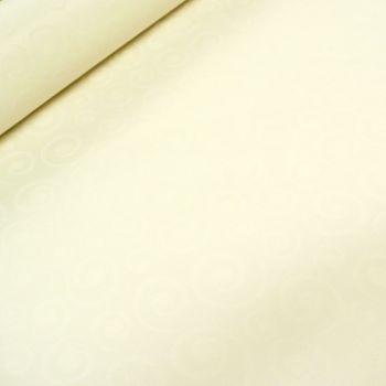 Tischdeckenstoff Tischwäsche Spirale weiß 3,3m Breite