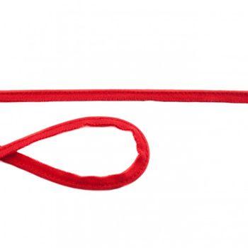 Jersey Paspelband rot Meterware Breite: 1cm
