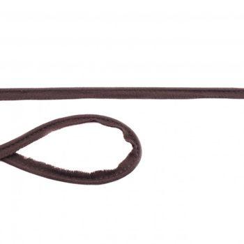 Jersey Paspelband schokobraun Meterware Breite: 1cm