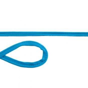 Jersey Paspelband aquablau Meterware Breite: 1cm