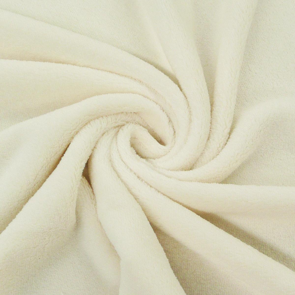 wellness fleece stoff meterware creme stoffe stoffe uni fleece. Black Bedroom Furniture Sets. Home Design Ideas