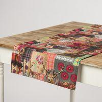 Schöner Leben Tischläufer Digitaldruck Patchwork Hirsch 40x160cm 001