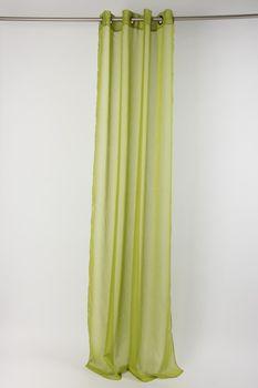 Fertiggardine Ösengardine einfarbig Voile Struktur grün 135x260cm – Bild 2