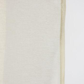 Fertiggardine Ösengardine einfarbig Voile Struktur creme 135x260cm – Bild 2