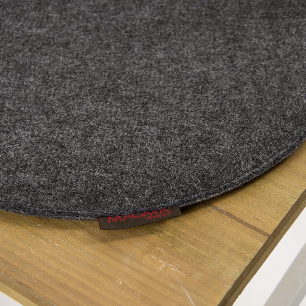 Stuhlkissen Avaro Filz Rund Anthrazit Meliert 35x2cm