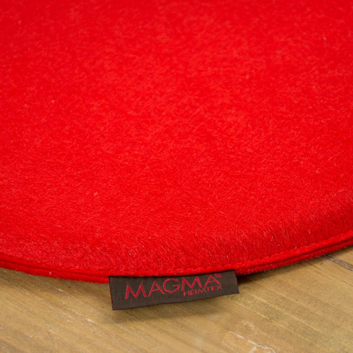 Stuhlkissen Avaro Filz Rund Rot 35x2cm