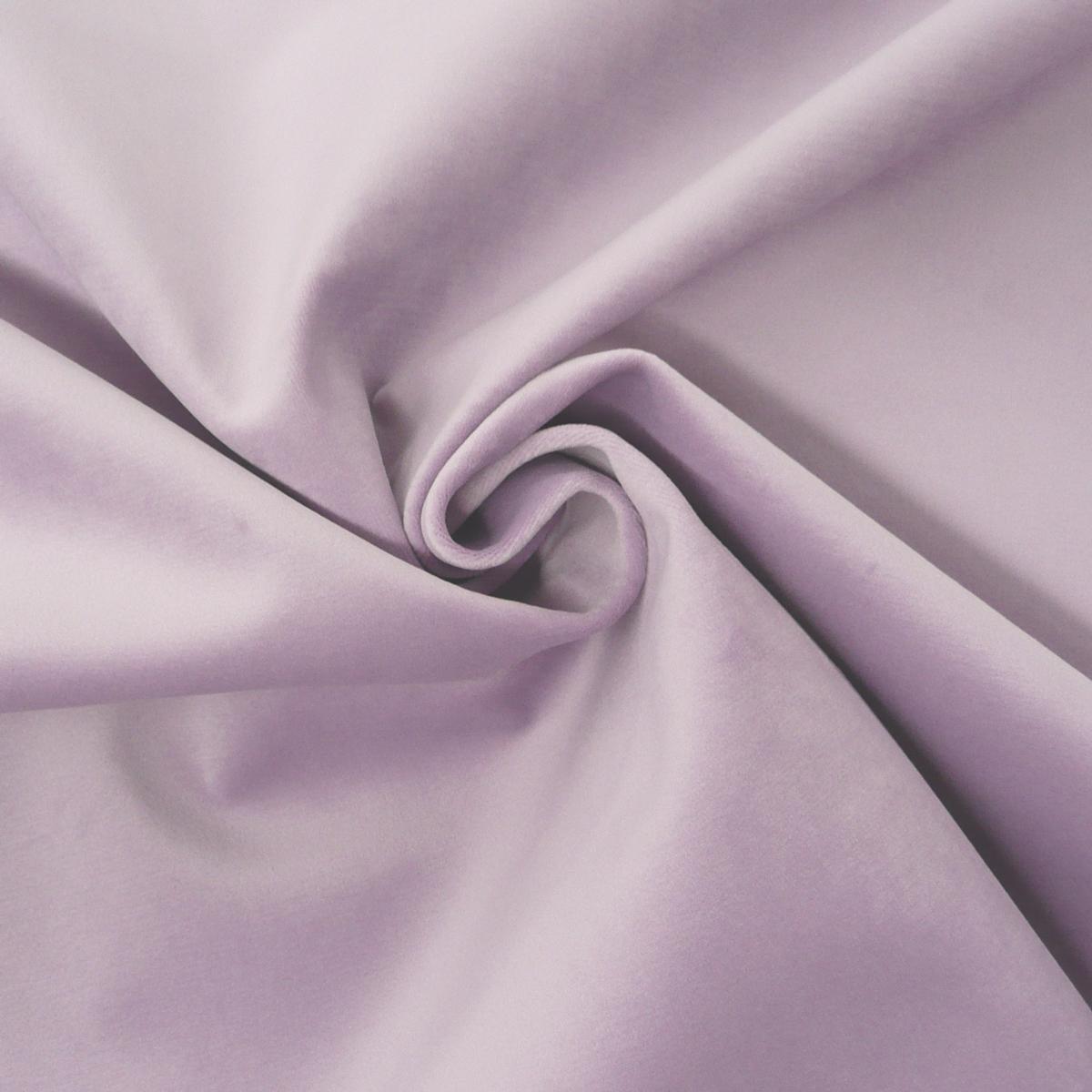 Möbelstoff Polsterstoff Bezugstoff Samtstoff Samt pastell flieder lila 1,40m breit
