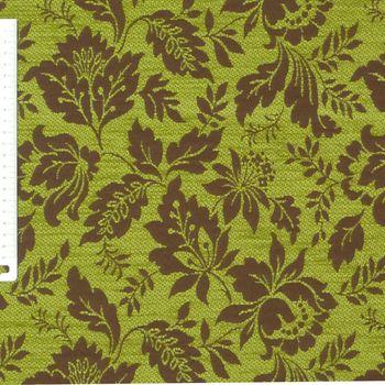 Möbelstoff Bezugsstoff WAIBLINGEN Blume braun grün  – Bild 2