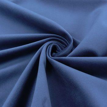 Bezugsstoff Polsterstoff Samtstoff dunkelblau – Bild 1