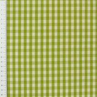 Gardinenstoff Stoff Dekostoff CAPRI Karo grün weiß 1x1cm 1,60m Breite 001