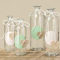Deko Flasche Vase Lovely Blossom klein 21x7cm