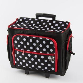 Prym Nähmaschinen Trolley Tasche Dots schwarz weiß 44x22x36cm – Bild 1