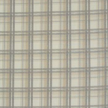 Gardinenstoff Dekostoff Karo Streifen natur grau beige 1,60m Breite – Bild 1