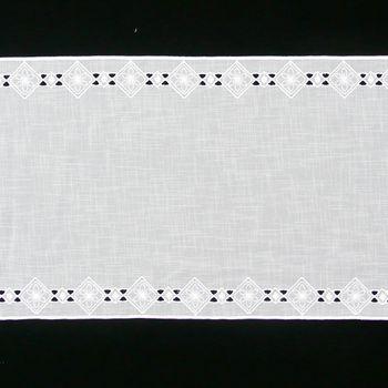 Gardine Paneele Schiebevorhang Raute Blume seitlich weiß 40cm Breite