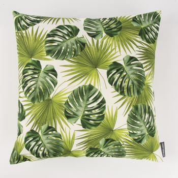 Schöner Leben Kissenhülle Palmen Blatt grün weiß 50x50cm – Bild 2