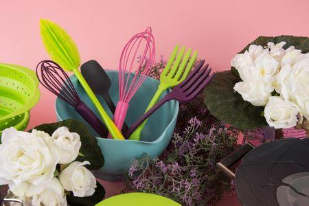 Kochblume Swisch Schwamm- und Fusselbürste Silikon Blume pink ca. 11cm – Bild 4