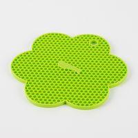 Kochblume Wabenuntersetzer Topflappen Silikon Blume grün ca. 18,5cm