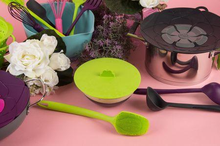 Kochblume Stretchii Silikondeckel 10,5cm grün – Bild 4
