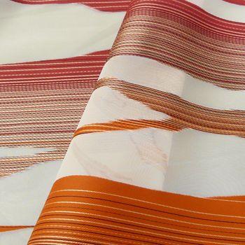 Dekostoff Vorhangstoff mit durchbrochenem Muster rot-orange ca 140cm breit